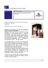 Objectives of the project and other data considered relevant to ...
