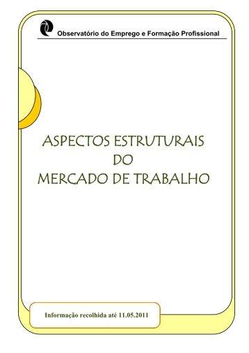 aspectos estruturais do mercado de trabalho - Instituto de Gestão do ...
