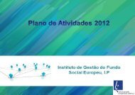 Plano de Atividades 2012 - Instituto de Gestão do Fundo Social ...
