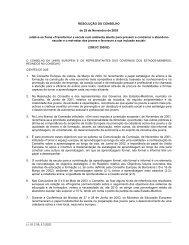 resolução do conselho - Instituto de Gestão do Fundo Social Europeu