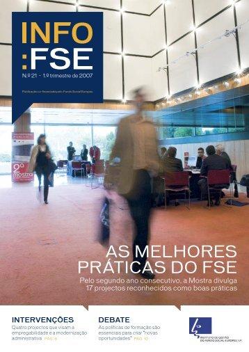 Nº 21 - 1º Trimestre 2007, Ano - Instituto de Gestão do Fundo Social ...