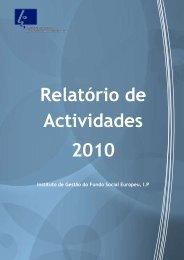 Relatório de Actividades 2010 - Instituto de Gestão do Fundo Social ...