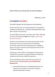 Offener Brief an den Gemeinderat der Stadt Heidelberg Die ...