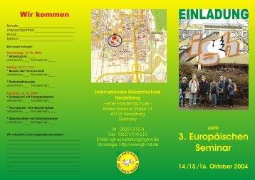 Anmeldeflyer - Internationale Gesamtschule Heidelberg