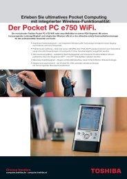 Der Pocket PC e750 Wifi. - Werner