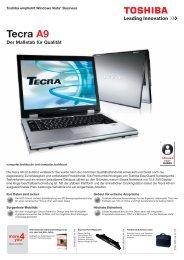 Tecra A9 Der Maßstab für Qualität - Werner