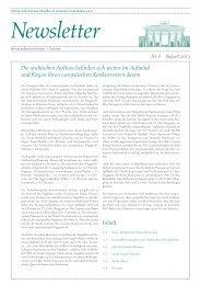Ghorfa Newsletter 08/2013