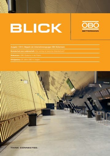 Ausgabe 1/2013 | Magazin der ... - OBO Bettermann