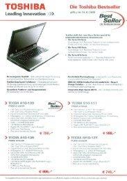 Die Toshiba Bestseller gültig bis 24.10.2008 . Best - Werner