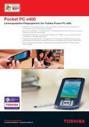 Der Toshiba Pocket PC e400. - Werner