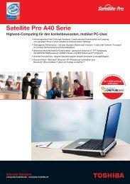 Satellite Pro A40 Serie - Werner