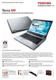 Tecra M9 Leistung für anspruchsvolle Geschäftskunden. - Toshiba