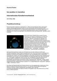 her position in transition Internationales ... - IG Kultur Wien