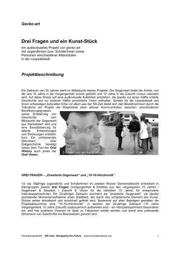Drei Fragen und ein Kunst-Stück - IG Kultur Wien