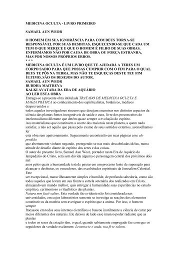 medicina oculta - Iglesia Cristiana Gnóstica Litelantes y Samael Aun ...