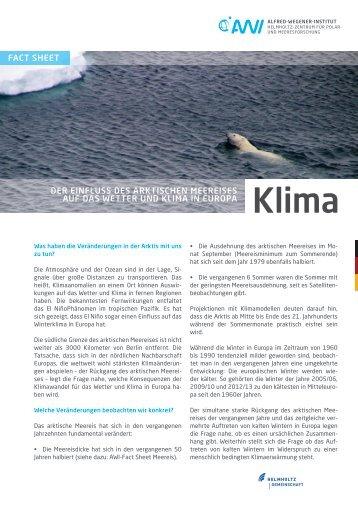 Klima in Europa - AWI
