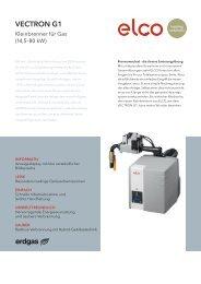 ELCO VECTRON G1 – Kleinbrenner für Gas (14,5–80 kW)