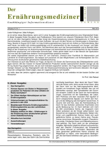 Heft 15/1 - Deutsche Akademie für Ernährungsmedizin e.V.