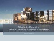 Effiziente Hausgeräte - Siemens - HEA