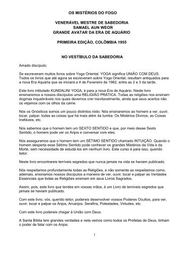 Os Mistérios do Fogo - Iglesia Cristiana Gnóstica Litelantes y ...