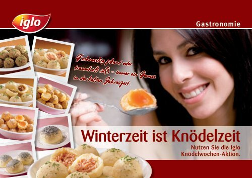 Knödelfolder - bei Iglo Gastronomie!