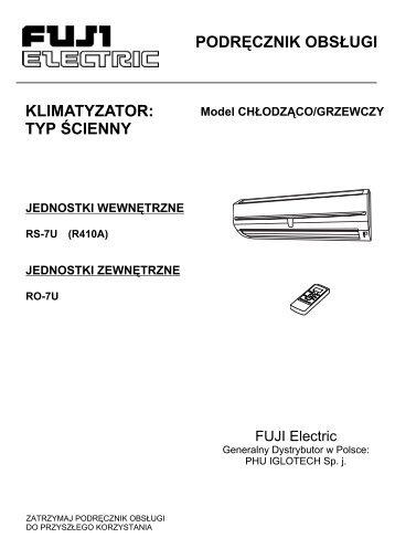 Instrukcja obsługi klimatyzatora RS-07 - Iglotech