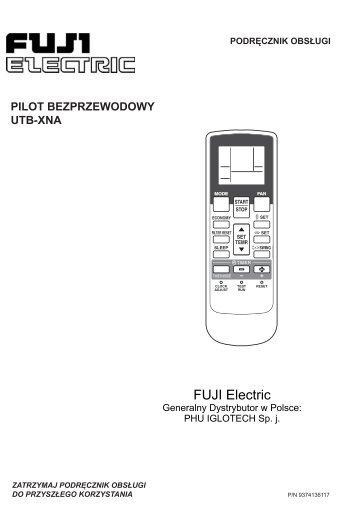 Instrukcja obsługi pilota bezprzewodowego UTB-XNA - Iglotech