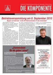 Ausgabe 2 .2010 Stand 10.08.2010.indd - IG Metall Braunschweig