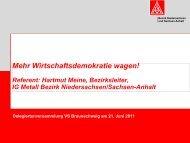 Mehr Wirtschaftsdemokratie wagen - IG Metall Braunschweig