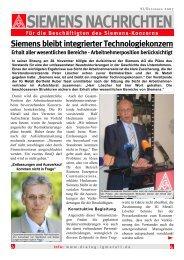 SIEMENS NACHRICHTEN - IG Metall Braunschweig