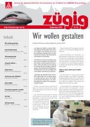 zügig 63 Ausgabe September 2013 - IG Metall Braunschweig