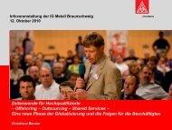 Eine neue Phase der Globalisierung und - IG Metall Braunschweig