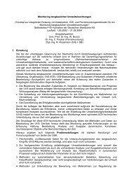 """Monitoring bergbaulicher Umwelteinwirkungen """" Konzept zur ..."""