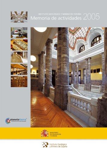 Año 2005 - Instituto Geológico y Minero de España