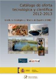 Catálogo de oferta tecnológica y científica 2012 - 2013 - Instituto ...