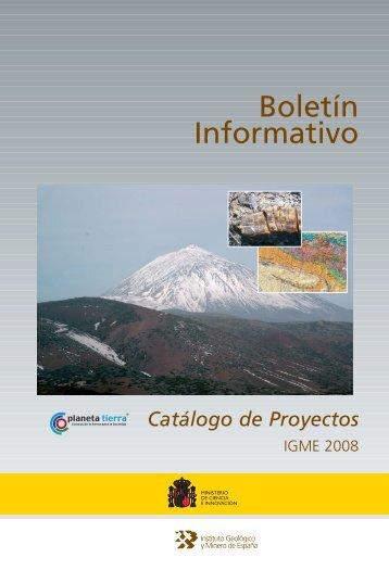 Boletín Informativo - Instituto Geológico y Minero de España