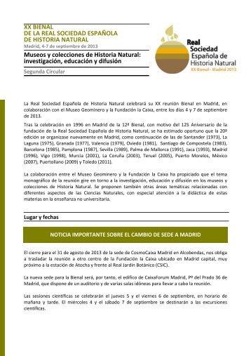 Segunda circular - Instituto Geológico y Minero de España