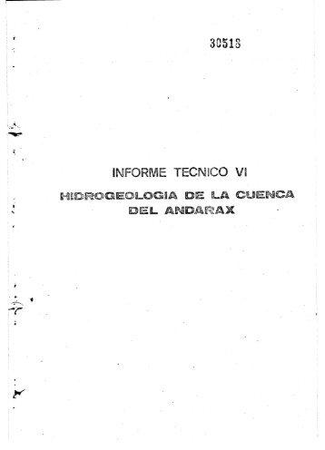 Informe tecnico VI. Cuenca de Andarax (PDF)