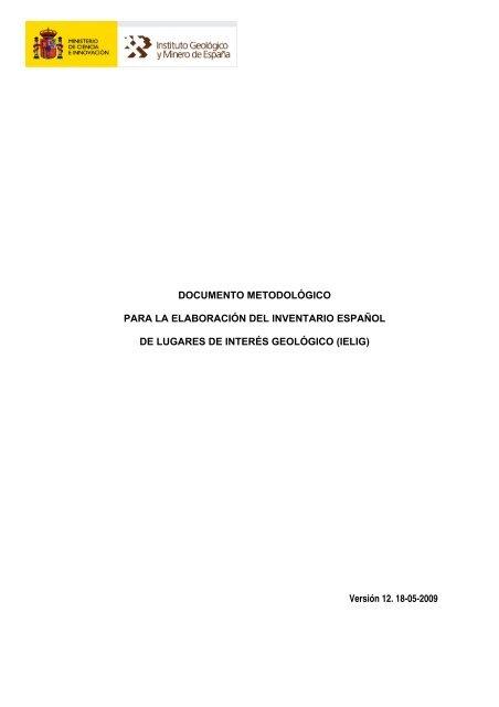documento metodológico para la elaboración del inventario
