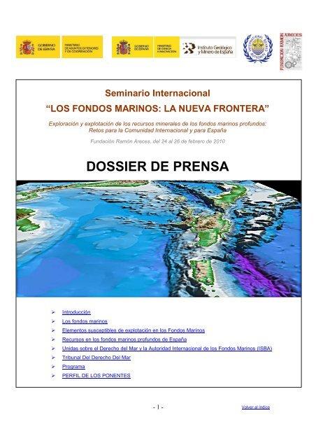 DOSSIER DE PRENSA - Instituto Geológico y Minero de España