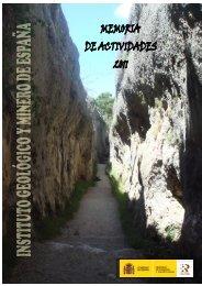 Memoria IGME 2011 - Instituto Geológico y Minero de España