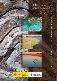MEMORIA DEL IGME 2010 - Instituto Geológico y Minero de España