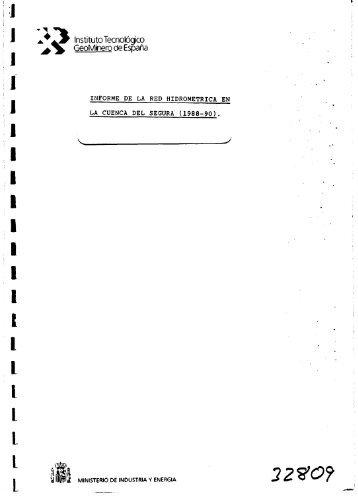 Informe red hidrométrica en la cuenca del Segura 88-90 (PDF)