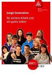 Junge Generation für sichere Arbeit und ein gutes Leben