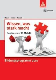 Wissen, was stark macht - IG Metall Bezirk Berlin-Brandenburg ...