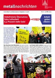 metallnachrichten Nr. 06 - IG Metall Bezirk Berlin-Brandenburg ...