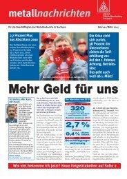 Mehr Geld für uns - IG Metall Bezirk Berlin-Brandenburg-Sachsen