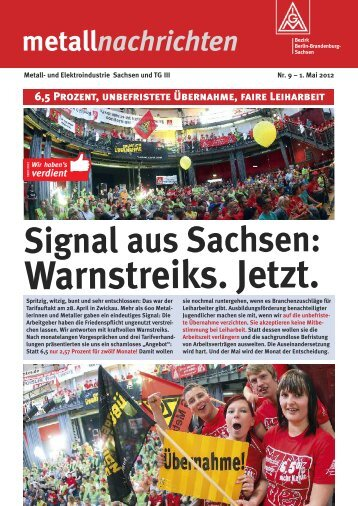 metallnachrichten Nr. 09 - 30.04.2012 - IG Metall Bezirk Berlin ...
