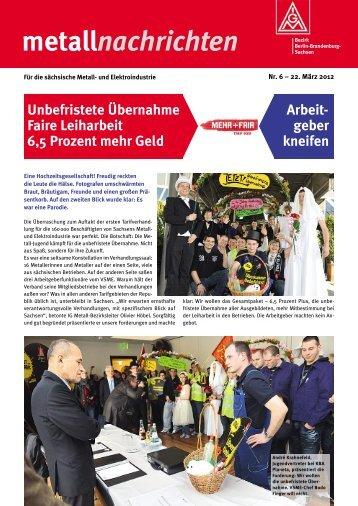 metallnachrichten - IG Metall Bezirk Berlin-Brandenburg-Sachsen