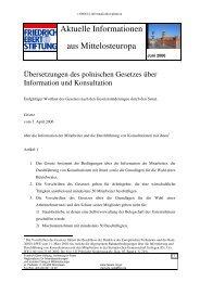 Deutsche Übersetzung des polnisches Gesetzes zur Information ...